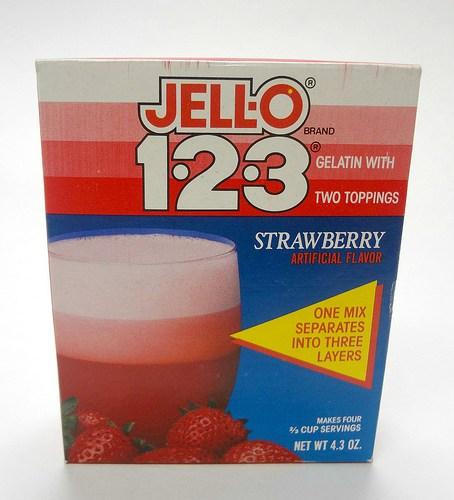 Jello 1-2-3 Dessert