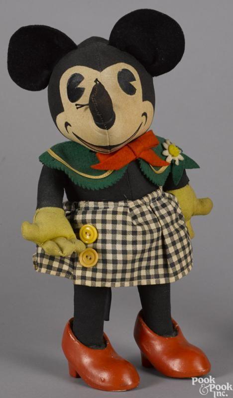 1935 Knickerbocker stuffed Minnie Mouse toy doll