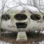 Abandoned Futuro house