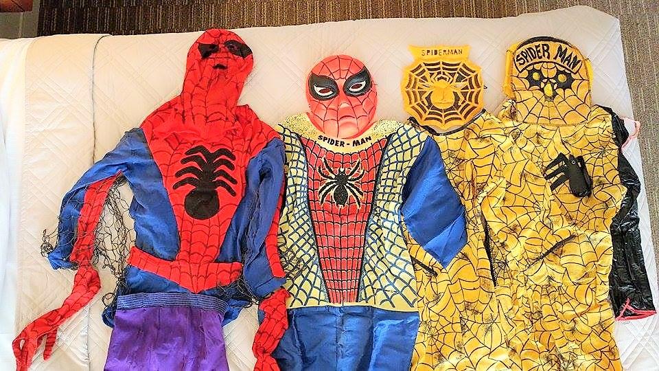 Vintage mid-century Spider-man Halloween costume types