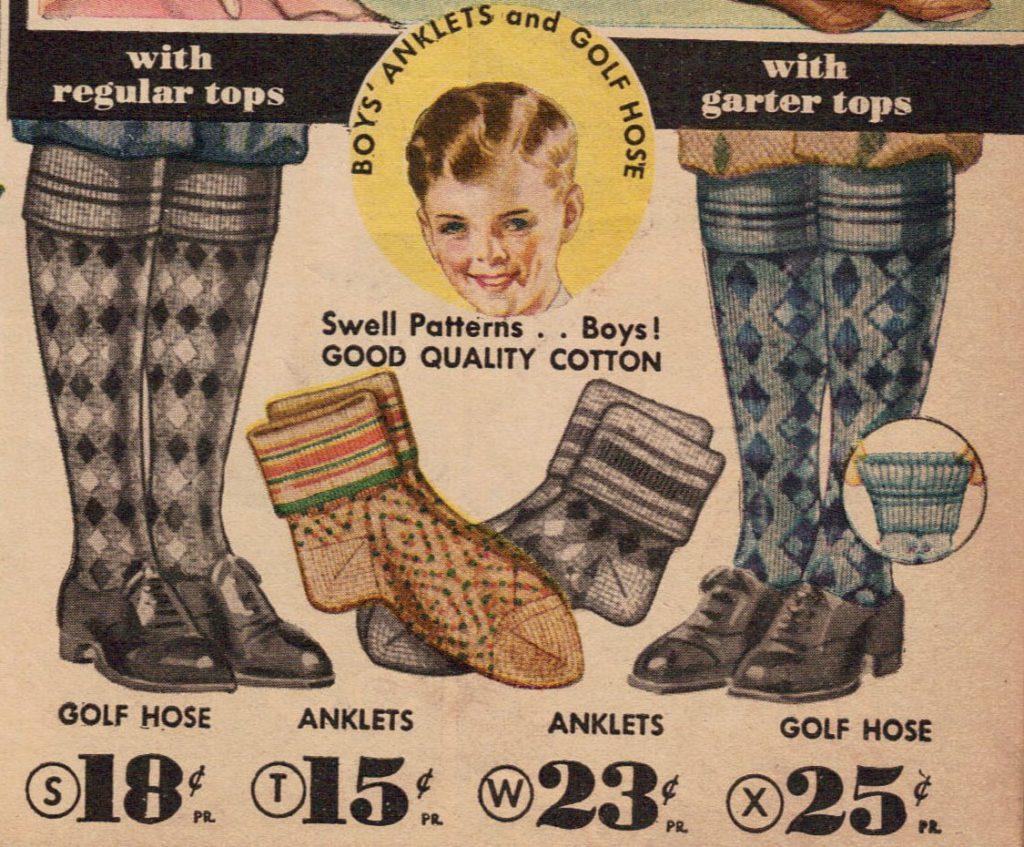 1934 socks ad