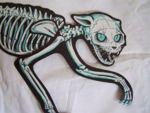 Early vintage Beistle cat skeleton die-cut
