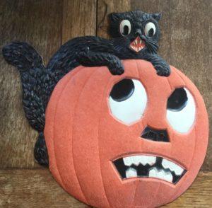 Vintage German-made, Halloween JOL die-cut