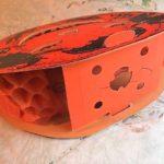 Vintage '30s dual-sided honeycomb Jack o' lantern
