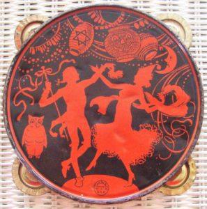 Vintage '30s J. Chein tin-litho tambourine