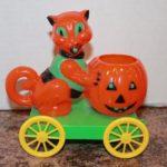 Vintage Haloween Rosen Rosbro, plastic candy container