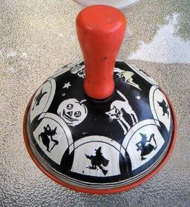 Vintage Halloween tin-litho rattler