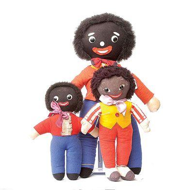 "Vintage ""Golliwog"" rag dolls"