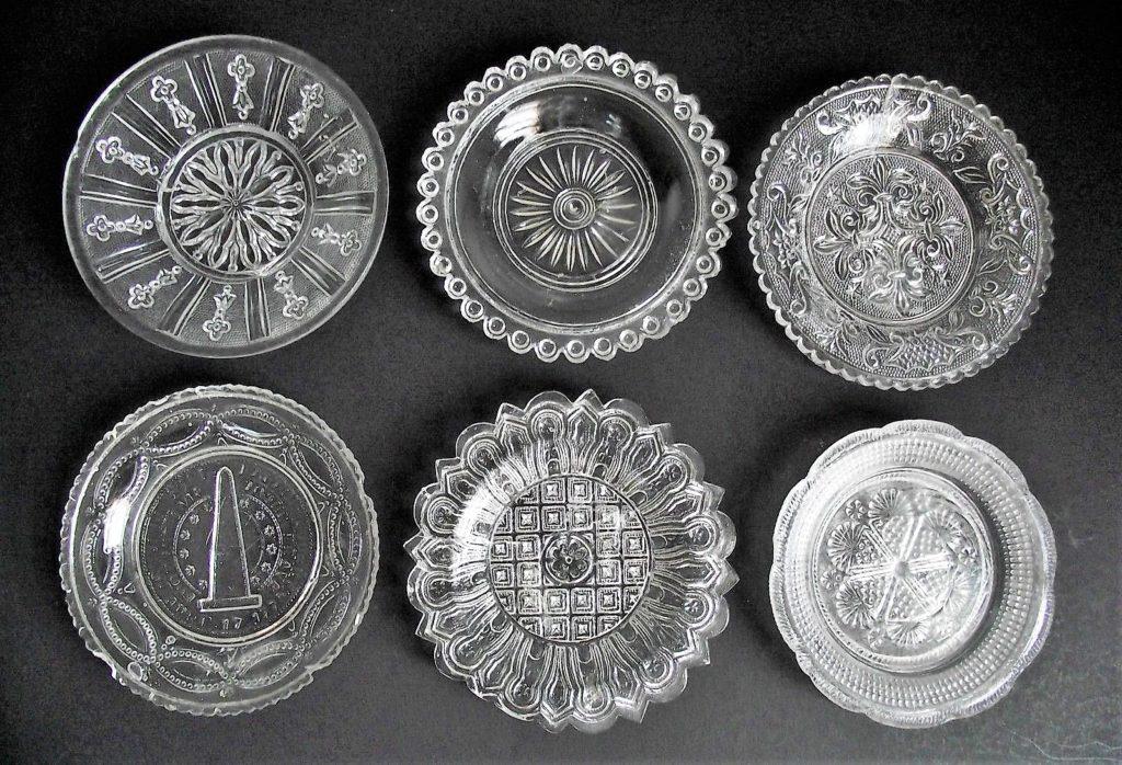 Antique EAPG serving plates lot