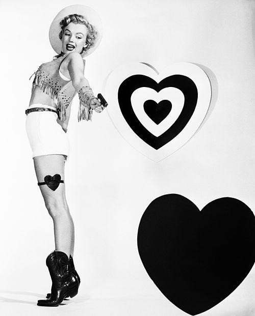 Marilyn Monroe Valentine's Day photo