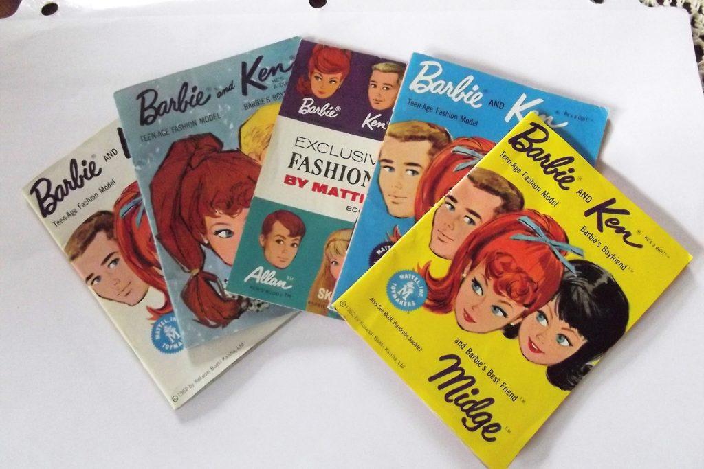 Vintage 1960's Mattel Barbie doll mini accessory booklets
