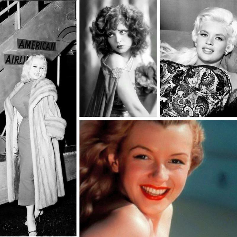 "Pop-culture sex symbols-Marilyn Monroe, Clara Bow, ""Sabrina"" and Jayne Mansfield"