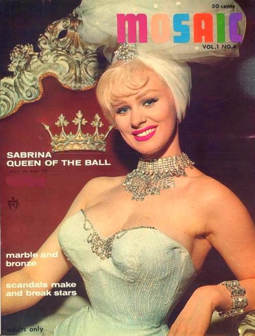 1962 MOSAIC Magazine AD-Sabrina (Norma Sykes)