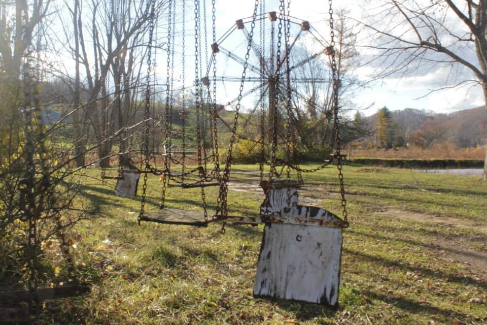 Shawnee Lake Wood Flying swing chair-West Virginia