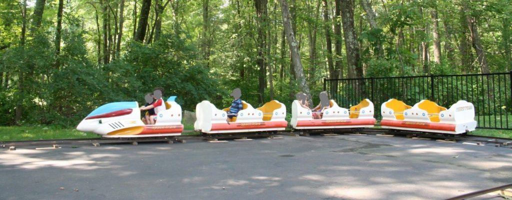 Vintage Space Train amusement park ride