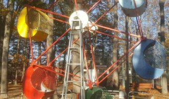 Nostalgic Amusement Park Ride Yard Art, And Rekindling Fun Memories!